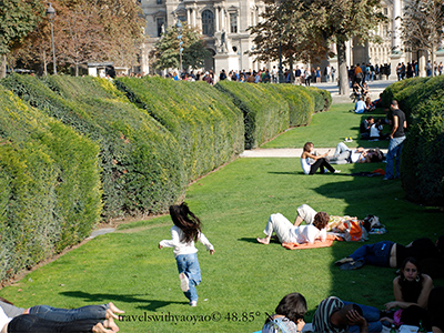 Tuilerie Gardens, Paris France