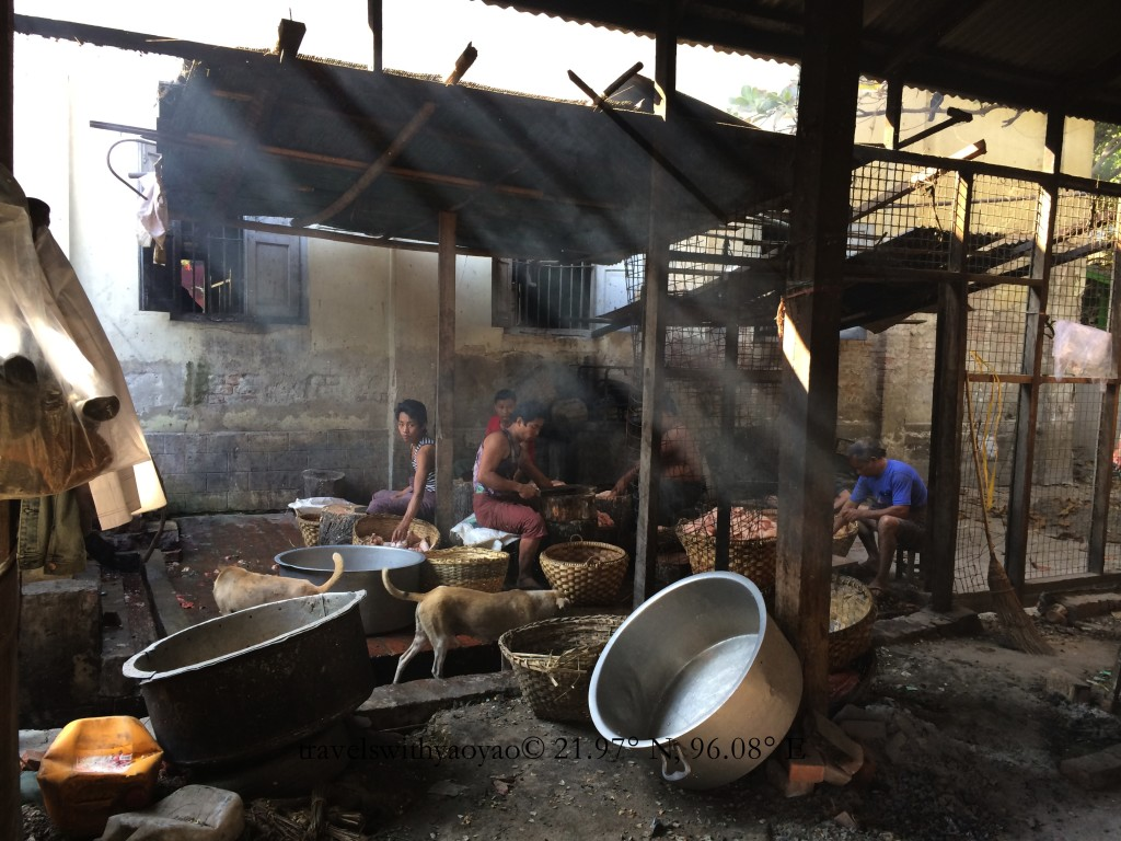 Monastery Kitchen in Mandalay, Myanmar (Burma)