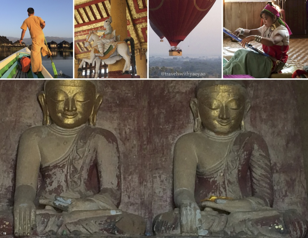 Collage of Myanmar photos