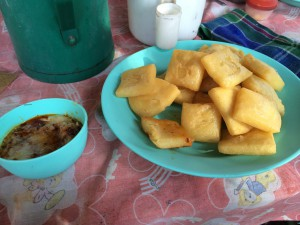Fried Tofu in Myanmar